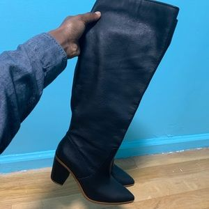 1.State Black Women's Knee High Boots